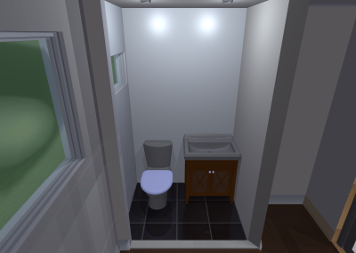 powder room - vanity-front